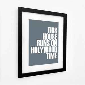 Holywood Time Typographic Travel Print - Coastal Wall Art /Poster