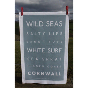 Cornwall Tea Towel - Wild Seas