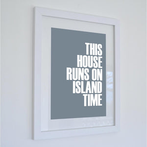 Island Time Typographic Travel Print - Coastal Wall Art /Poster