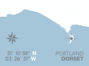 Portland Map Travel Print- Coastal Wall Art /Poster
