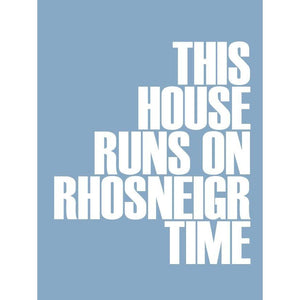 Rhosneigr Time Typographic Seaside Wall Art /Poster
