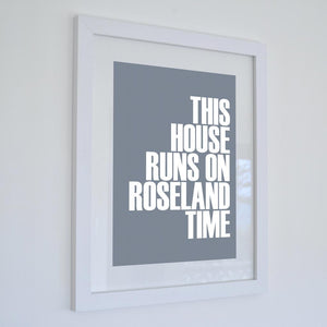 Roseland Time Typographic Seaside Print - Coastal Wall Art /Poster