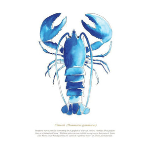 Lobster Watercolour Print SeaKisses Wall Art