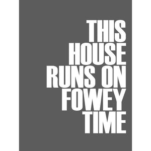 Fowey Time Typographic Seaside Print - Coastal Wall Art /Poster