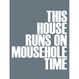 Mousehole Time Typographic Travel Print - Coastal Wall Art /Poster