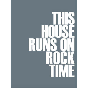 Rock Time Typographic Seaside Print - Coastal Wall Art /Poster