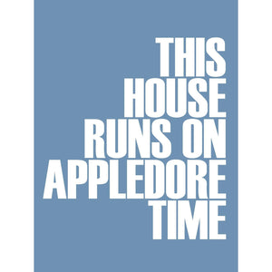Appledore Time Typographic Travel Print- Coastal Wall Art /Poster
