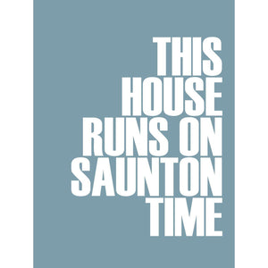 Saunton Time Seaside Print- Coastal Wall Art /Poster