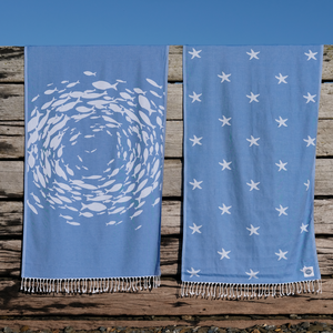 Shoal of Fish Beach Sheet  (Hammam Towel)