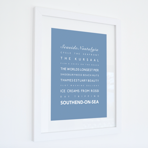 Southend-on-Sea Typographic Travel Print- Coastal Wall Art /Poster