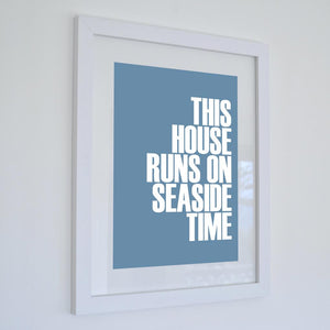 Seaside Time Typographic Seaside Wall Art /Poster