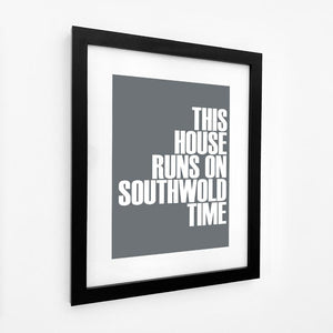Southwold Time Typographic Seaside Wall Art /Poster