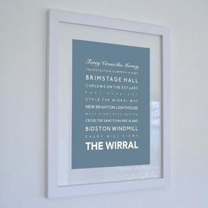 The Wirral Typographic Seaside Print - Coastal Wall Art