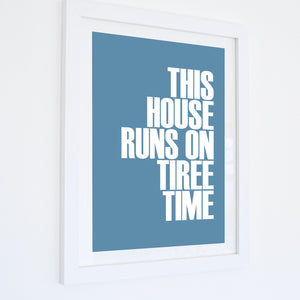 Tiree Time Typographic Print - Coastal Wall Art /Poster