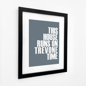 Trevone Time Typographic Seaside Print - Coastal Wall Art Travel Print /Poster