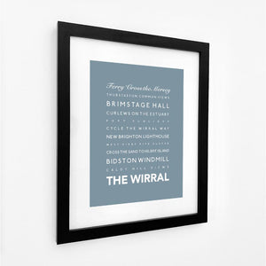 The Wirral Typographic Seaside Print - Coastal Wall Art /Poster