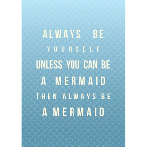 Mermaid Poem Typographic Travel and Seaside Print by SeaKisses