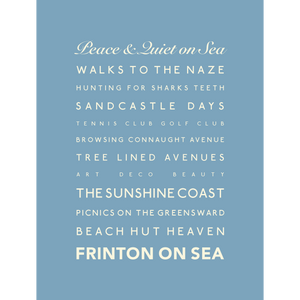 Frinton-on-Sea Typographic Travel Print- Coastal Wall Art /Poster