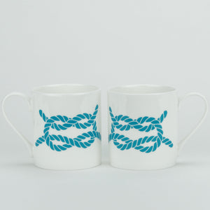 Rope Mug - Large Fine Bone China Coastal Mug