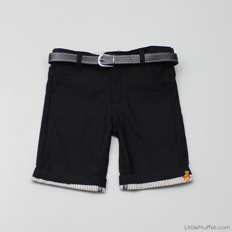 Black Shorts With Black Belt