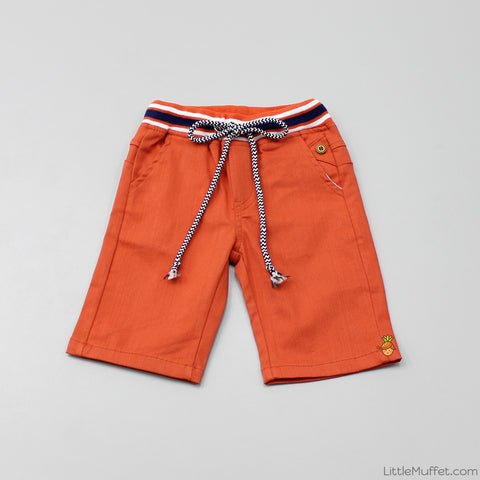 Orange Draw String Shorts
