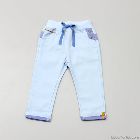 Drawstring Pants - Light Blue