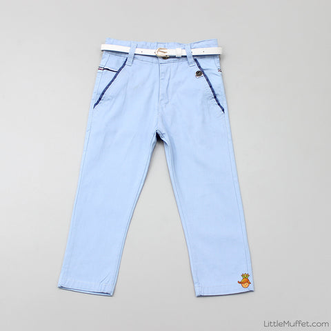 Blue Pants With White Belt
