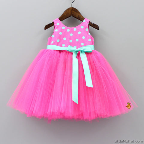 Pre Order: Hot Pink Polkas Tutu Dress