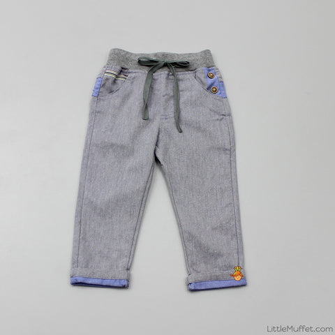 Drawstring Pants - Slate Grey