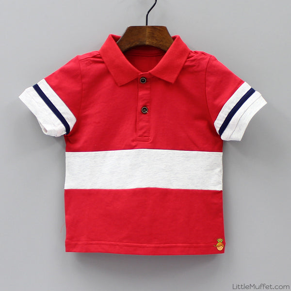 Red And White Polo