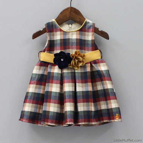 Multicolour Checks Dress