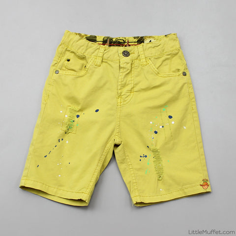 Funky Ripped Shorts - Yellow