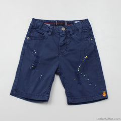 Funky Ripped Shorts - Navy Blue