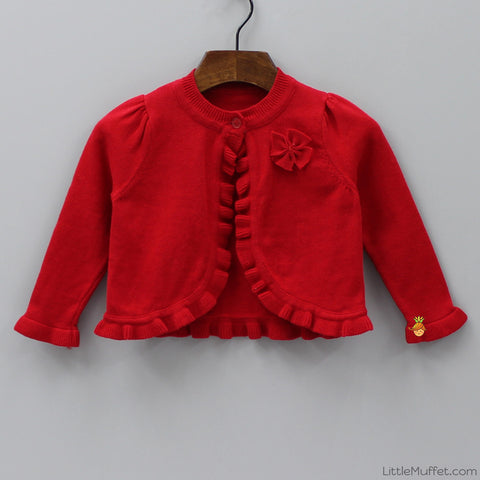Stylish Red Shrug