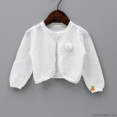 Rose Shrug - White