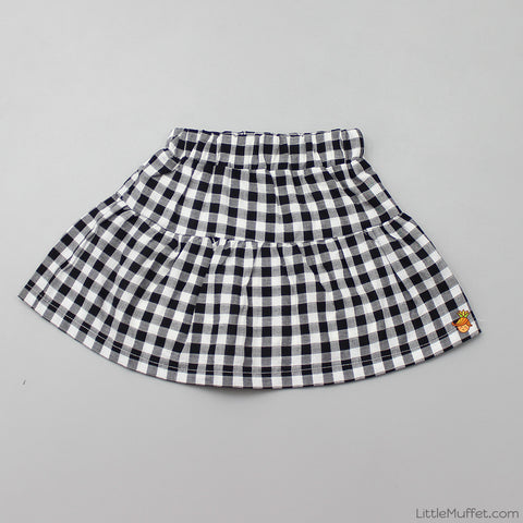 Checks Skirt With Shorts