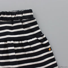Stripy Skirt With Shorts