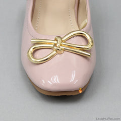 Golden Bow Bellies - Champagne Pink