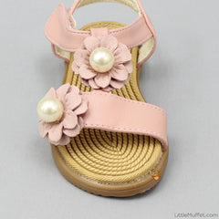 Flowery Sandals - Champagne Pink