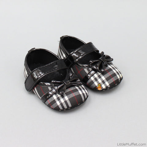 Black Checks Booties