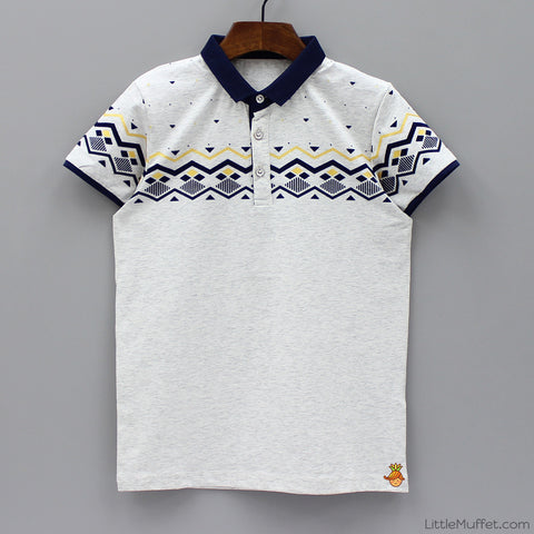 Grey Designed Polo