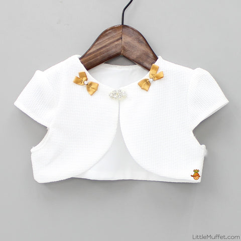 Pretty White Short Shrug