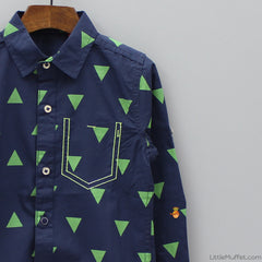 Triangle Shirt - Navy Blue