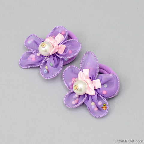 Rosy Hair ties - Set Of 2 - Purple