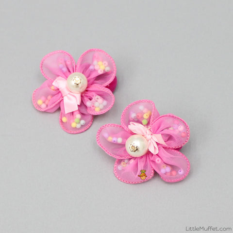 Rosy Hair ties - Set Of 2 - Pink