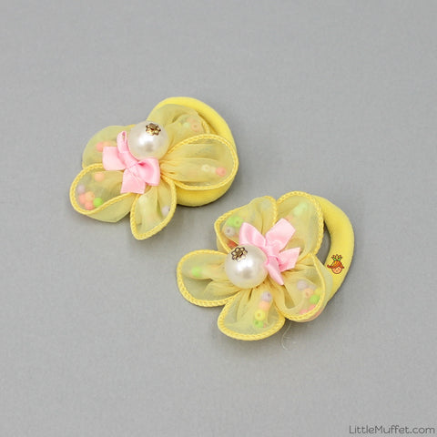 Rosy Hair ties - Set Of 2 - Yellow