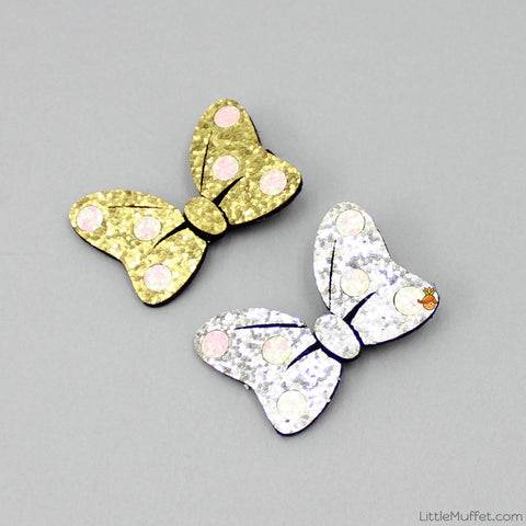 Shimmery Butterfly - Set Of 2 - Golden & Silver