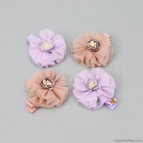 Bargenia - Set Of 4 - Lilac & Coffee Brown