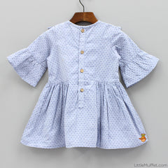 Pre Order: Gathers And Ruffles - Blue