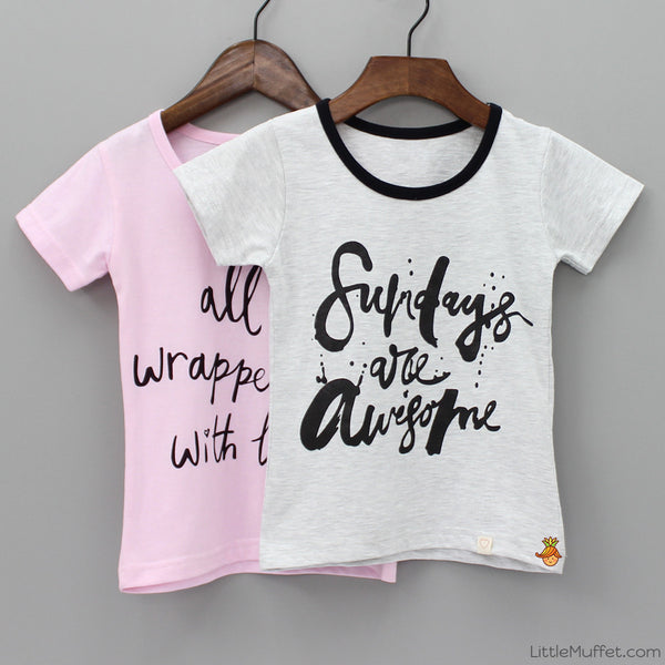 Awesome Sundays - Set Of 2 Tees